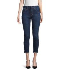 joe's jeans women's high-rise cropped skinny jeans - echo park - size 30 (8-10)