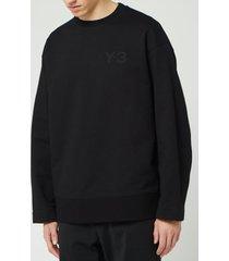 y-3 men's classic chest logo crew neck sweatshirt - black - xl