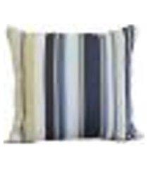 almofada decore azul escuro listrado 40x40 com aba têxtil lar