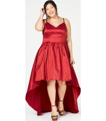 b darlin trendy plus size high-low dress, created for macy's