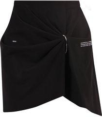 off-white draped viscose blend skirt