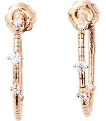 2cm rose gold rugiada diamond hoop earrings