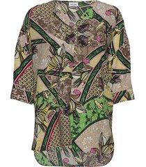 blouse 3/4-sleeve blouses short-sleeved multi/mönstrad gerry weber