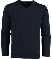 bos bright blue vince v-hals pullover blauw rf 21105vi01bo/290 navy