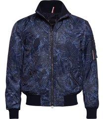 printed flight bombe bomberjacka jacka blå tommy hilfiger tailored