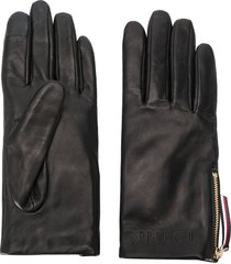 tommy hilfiger side zipped driving gloves - black