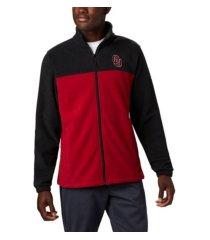 columbia oklahoma sooners men's flanker jacket iii fleece full zip jacket