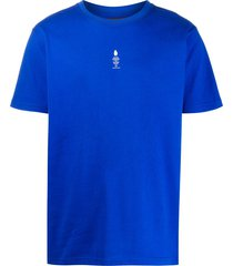 styland not rain proof crew-neck t-shirt - blue