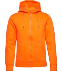 hoodie neopren with zip - vegan hoodie trui oranje knowledge cotton apparel
