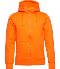 hoodie neopren with zip - vegan hoodie trui oranje knowledge cotton apparel