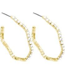 orecchini in metallo dorato e cristalli per donna