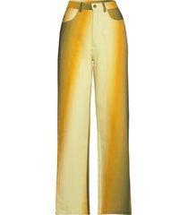 alexa pants casual broek geel hosbjerg