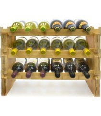 sorbus 3 tier stackable bamboo wine rack