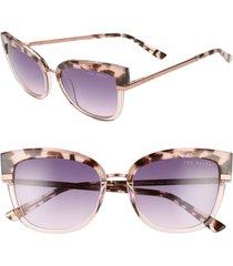 women's ted baker london 53mm square sunglasses -