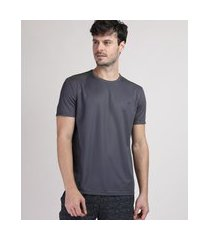 camiseta masculina ace com recorte manga curta gola careca preta