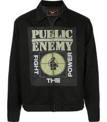 supreme udc public enemy work jacket - black