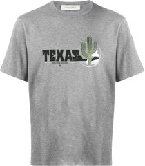 golden goose texas print t-shirt - grey