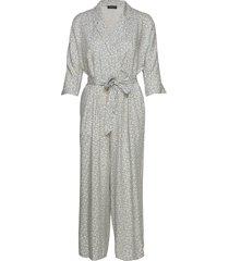 slftirza 3/4 cropped jumpsuit rt jumpsuit grijs selected femme