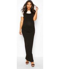 maternity 2 in 1 t-shirt maxi dress, black