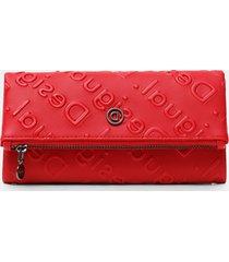 rectangular wallet logo relief - red - u