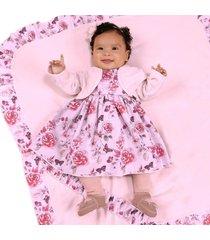 saída de maternidade fofinho feminina daniela bolero rosa