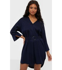j lindeberg patty-two-tone twill loose fit dresses
