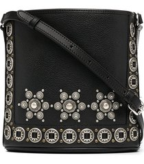 etro beaded crossbody bag - black