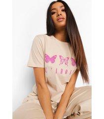 petite vlinder 'l'amour' t-shirt, ecru