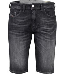 diesel shorts calzoncini 5-pocket gewassen grijs