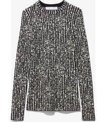 proenza schouler white label inky dot jacquard knit pullover black/ecru m