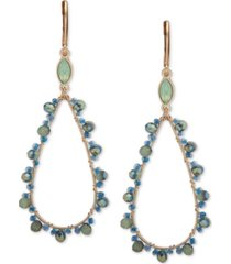 lonna & lilly gold-tone crystal & bead open drop earrings