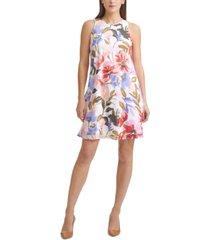 calvin klein petite floral-print dress
