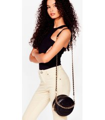 womens want make a chain-ge circle crossbody bag - black