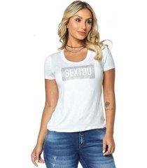 t-shirt daniela cristina gola u profundo 03 602dc10297 branco pp - feminino