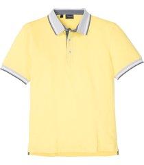 polo basic moderna in piquet elasticizzato slim fit (giallo) - rainbow