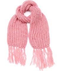 bufanda rosa boerss lana con flecos