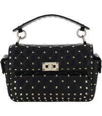 borsa donna a mano shopping in in pelle rockstud medium