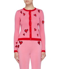 ruthy' embroidered heart motif cardigan