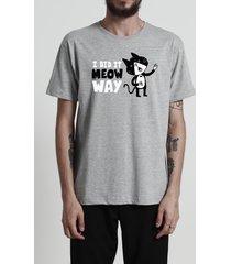 camiseta meow way