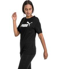 boyfriend logo t-shirt voor dames, zwart/aucun, maat s | puma