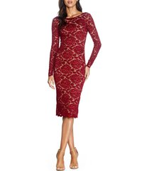 women's dress the population emery long sleeve lace cocktail dress
