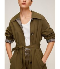 mango buttoned long trench coat