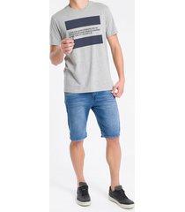 camiseta masculina estampa faixa 1987 cinza mescla calvin klein jeans - pp