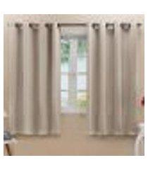 cortina blackout em tecido class bege corta luz 2,80m x 1,60m