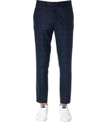 mauro grifoni dark grey check wool pants