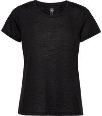 texture tee t-shirts & tops short-sleeved svart casall