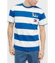 tommy jeans tjm looney tunes stripe tee t-shirts & linnen beige
