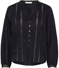 rachelle blouse blouse lange mouwen zwart odd molly