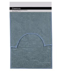 jogo de tapetes para banheiro popcorn 40x60cm azul claro