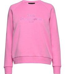 w original crew sweat-shirt tröja rosa peak performance
